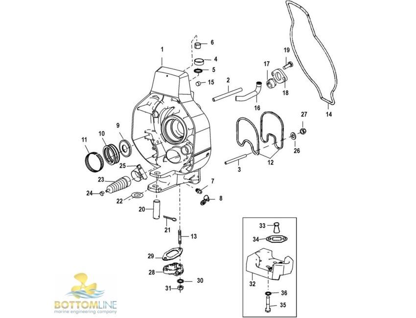 mercruiser trim cylinder diagram